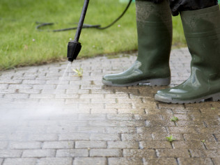 Flat Work Pressure Washing